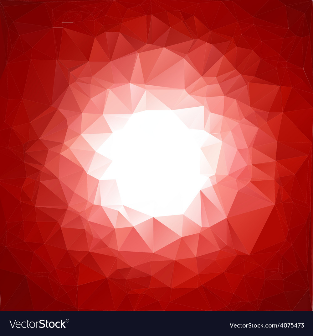 Red vivid polygonal mosaic background vector | Price: 1 Credit (USD $1)