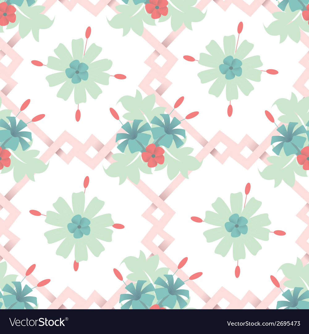 Seamless floral wallpaper background vector | Price: 1 Credit (USD $1)