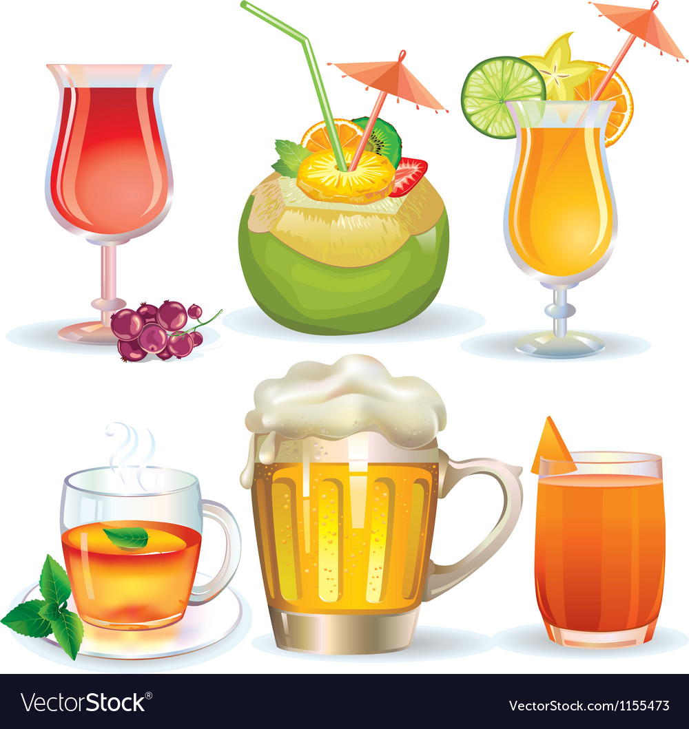 Set of drinks vector | Price: 3 Credit (USD $3)