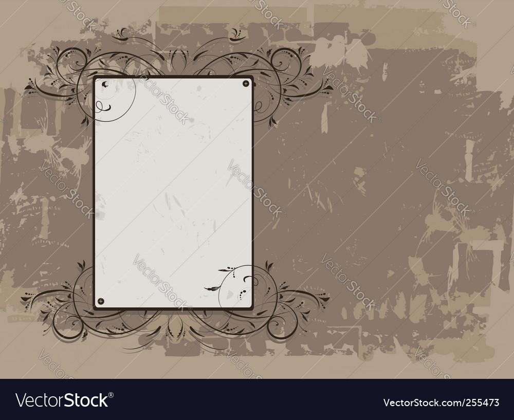 Vintage frame on grunge background vector   Price: 1 Credit (USD $1)