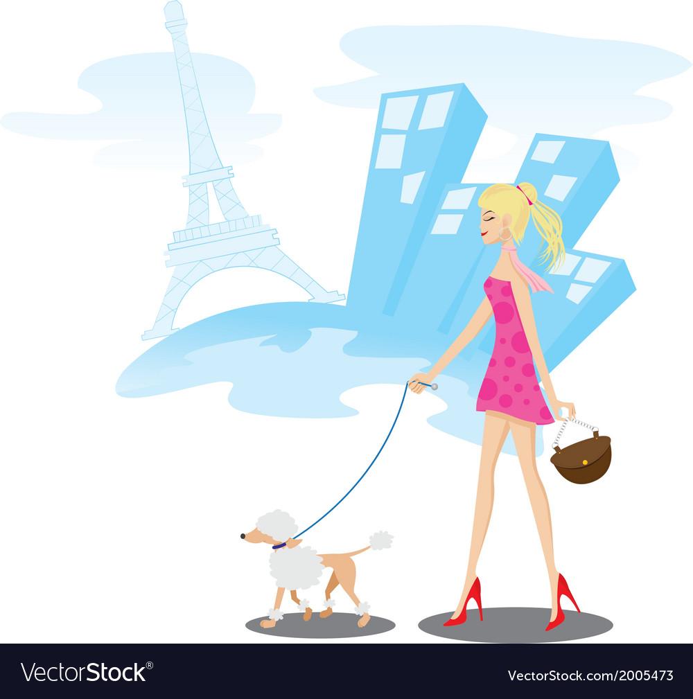Walk paris vector | Price: 1 Credit (USD $1)