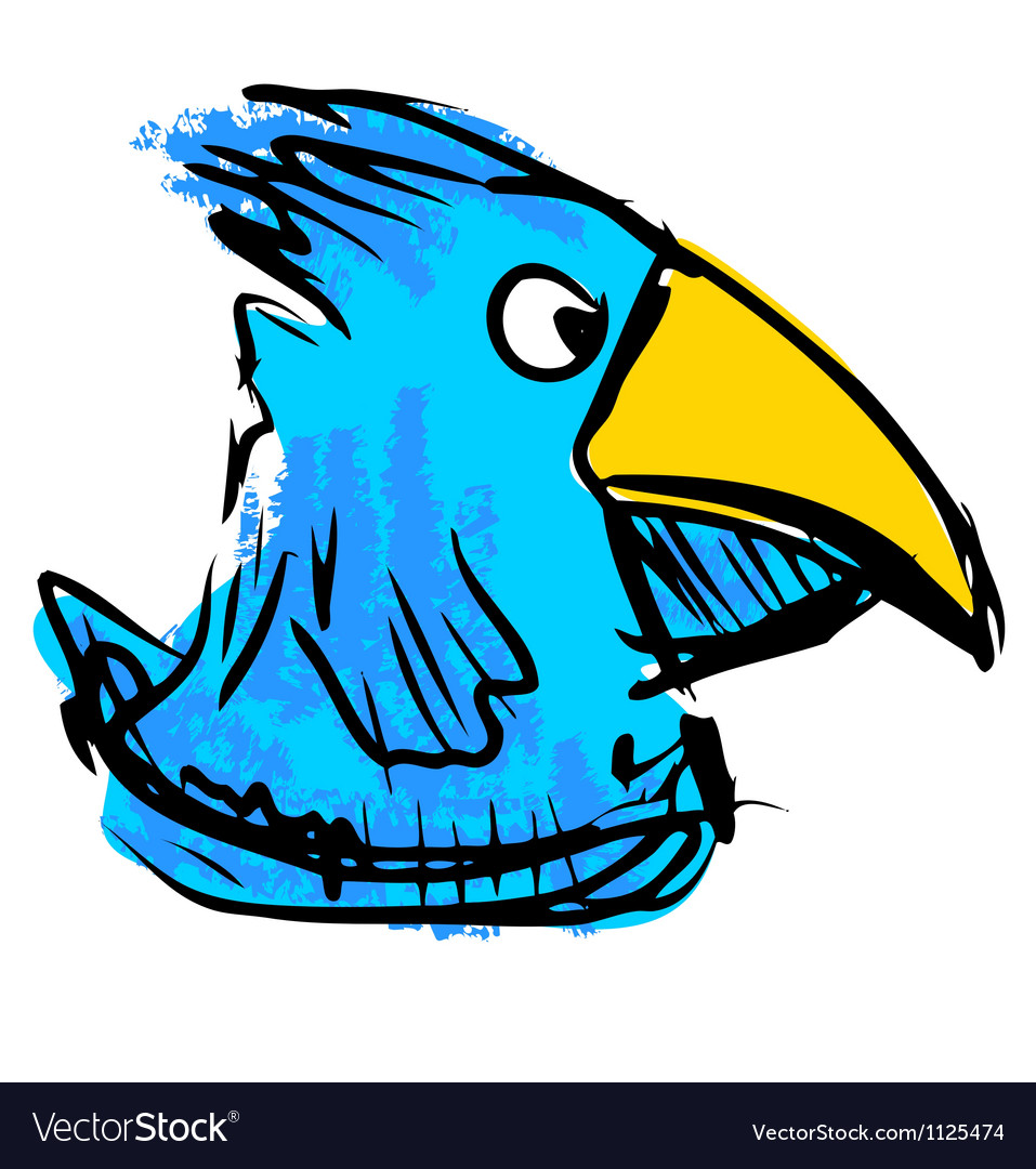 Bird with big beak vector | Price: 1 Credit (USD $1)