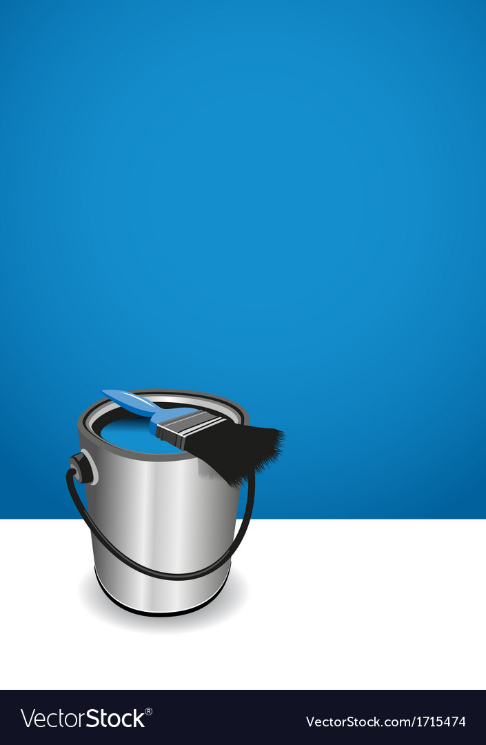 Blue paint pot background vector | Price: 1 Credit (USD $1)