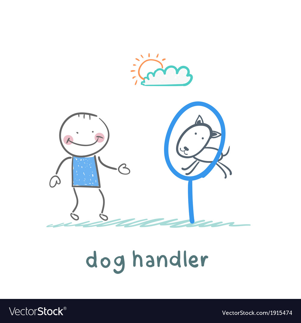 Canine teaches the dog to jump through a ring vector | Price: 1 Credit (USD $1)