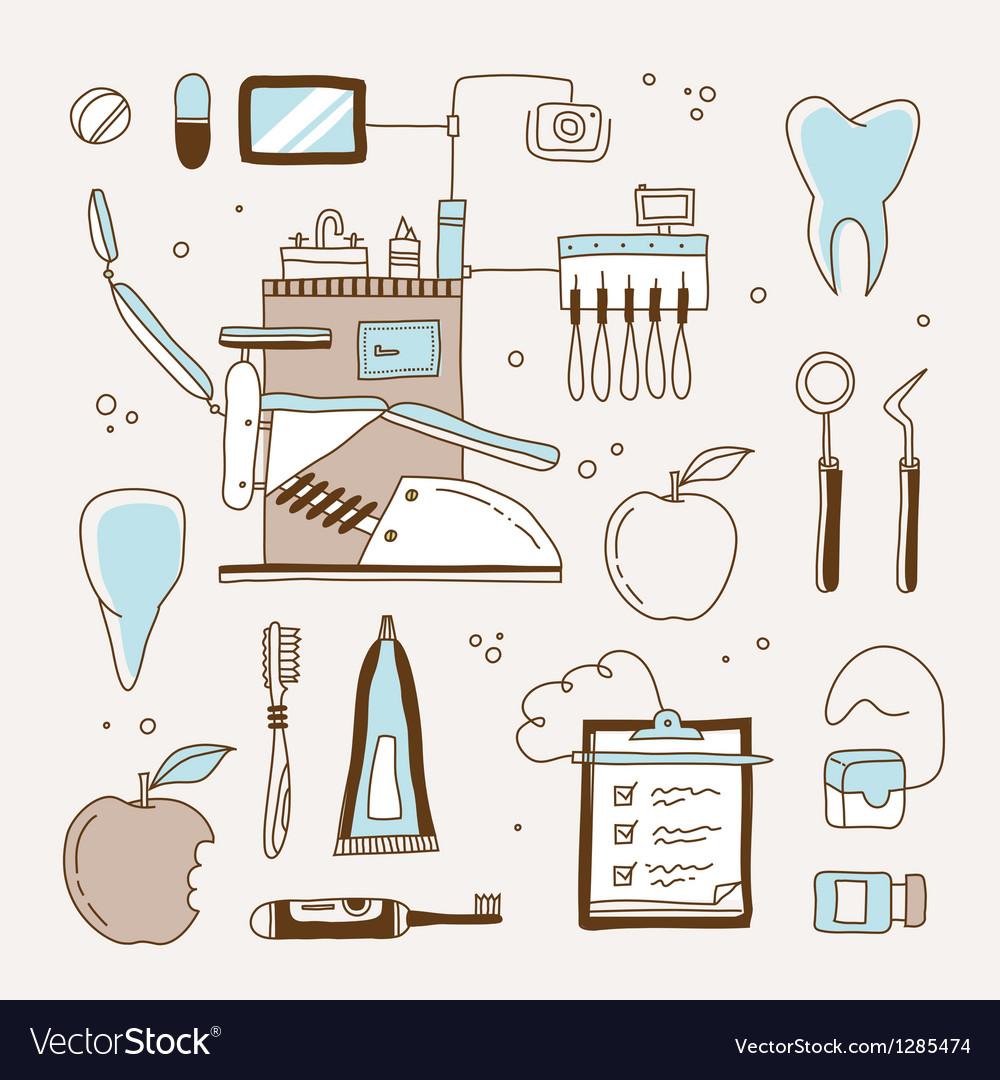 Dentist icon vector | Price: 3 Credit (USD $3)