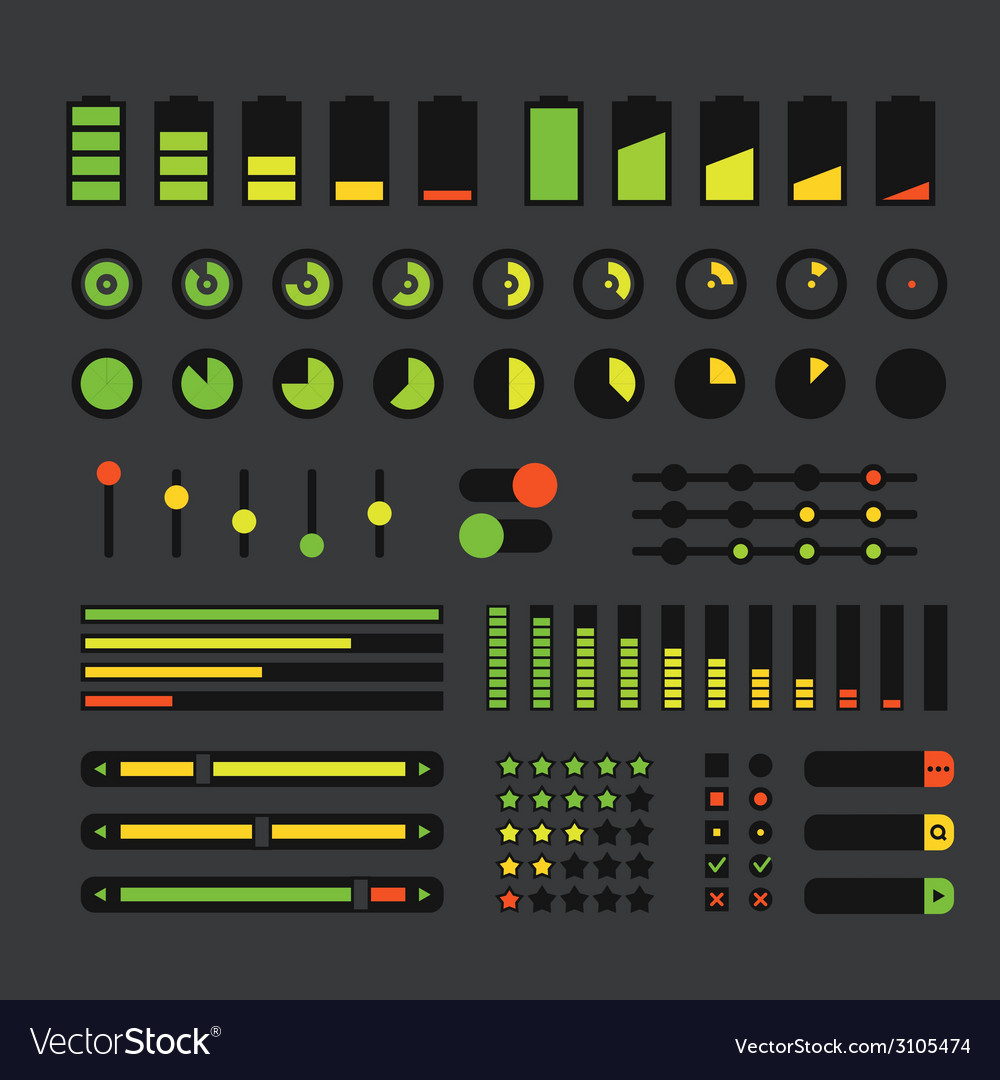 Different interface design elements vector | Price: 1 Credit (USD $1)