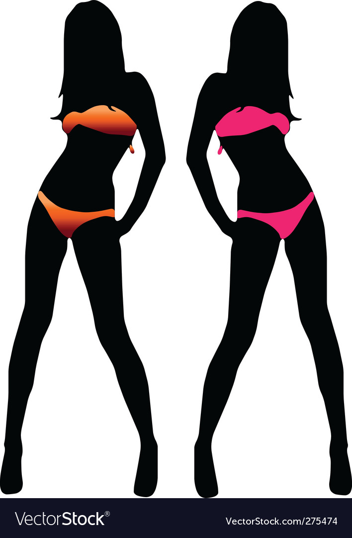 Girl in bikini vector | Price: 1 Credit (USD $1)