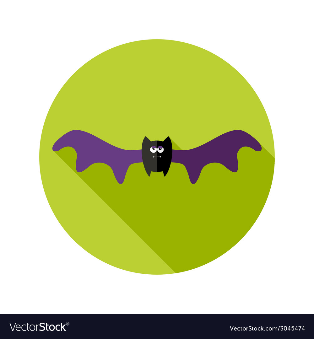 Halloween bat flat icon with big wings vector | Price: 1 Credit (USD $1)