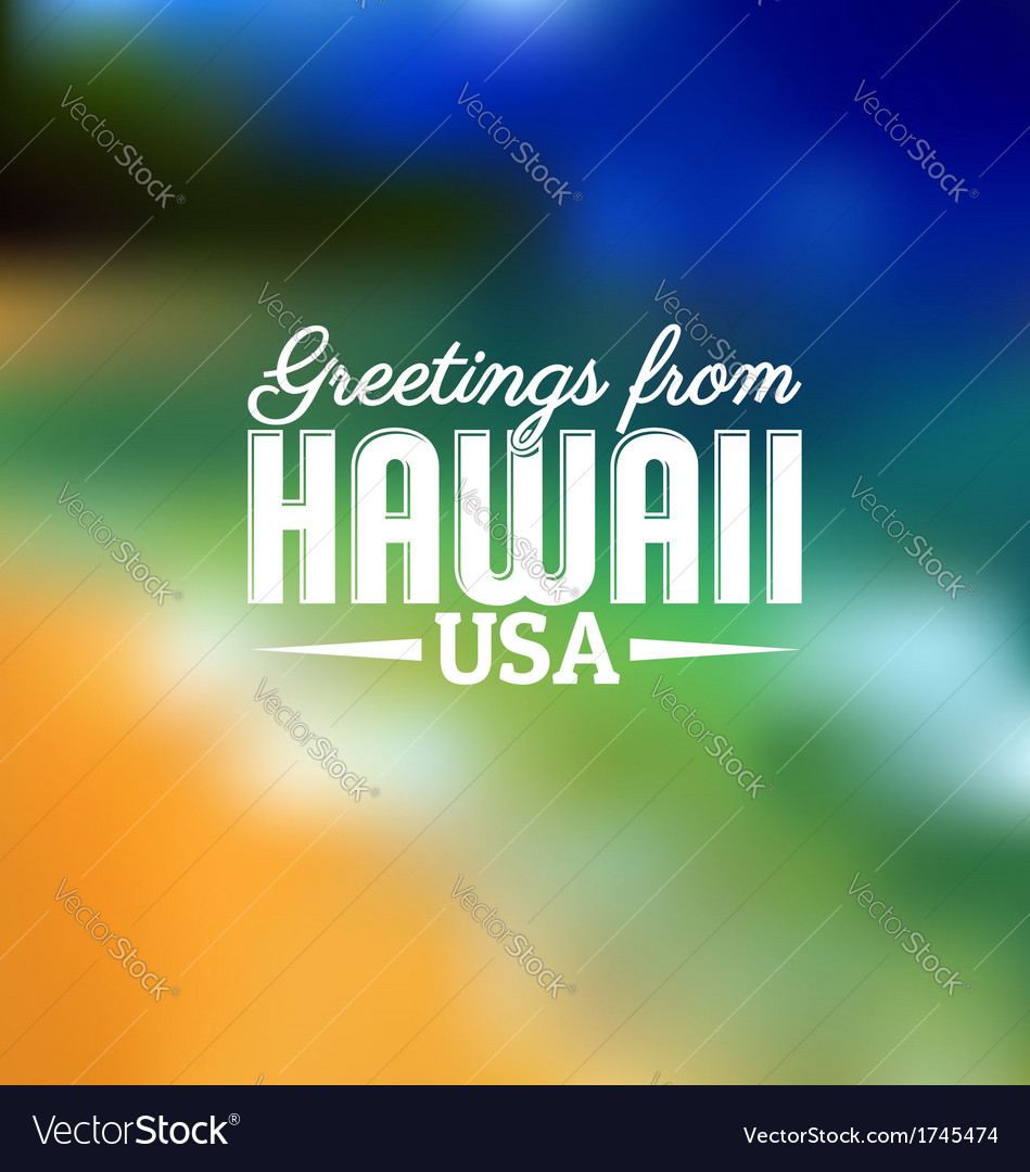 Hawaii touristic card vector | Price: 1 Credit (USD $1)