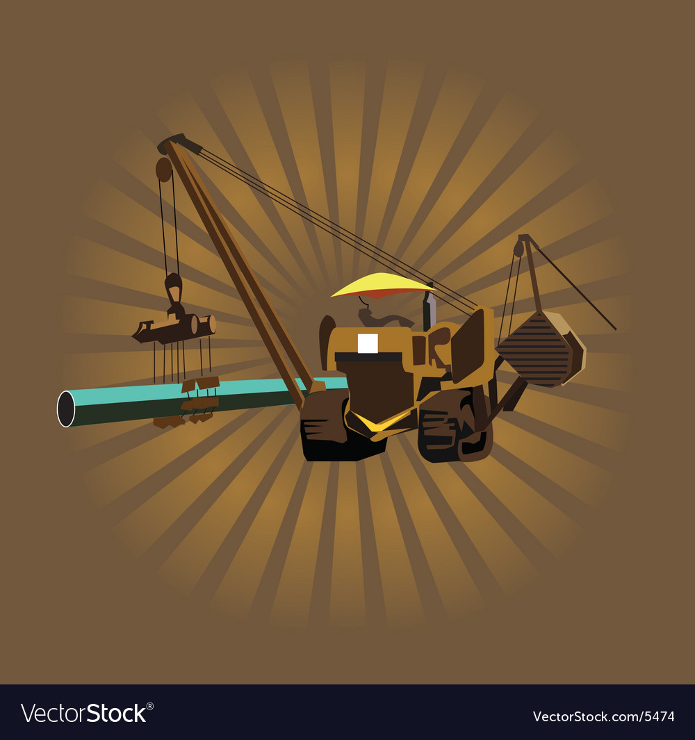 Heavy machinery vector | Price: 1 Credit (USD $1)