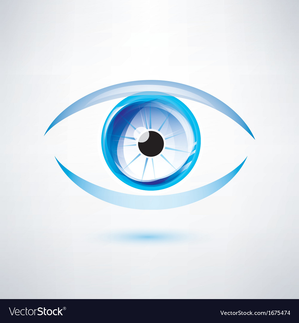 Human blue eye abstract shape vector | Price: 1 Credit (USD $1)