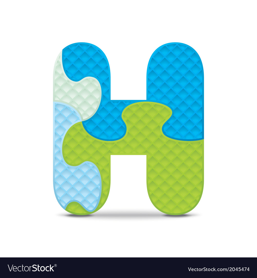 Letter h written with alphabet puzzle vector | Price: 1 Credit (USD $1)