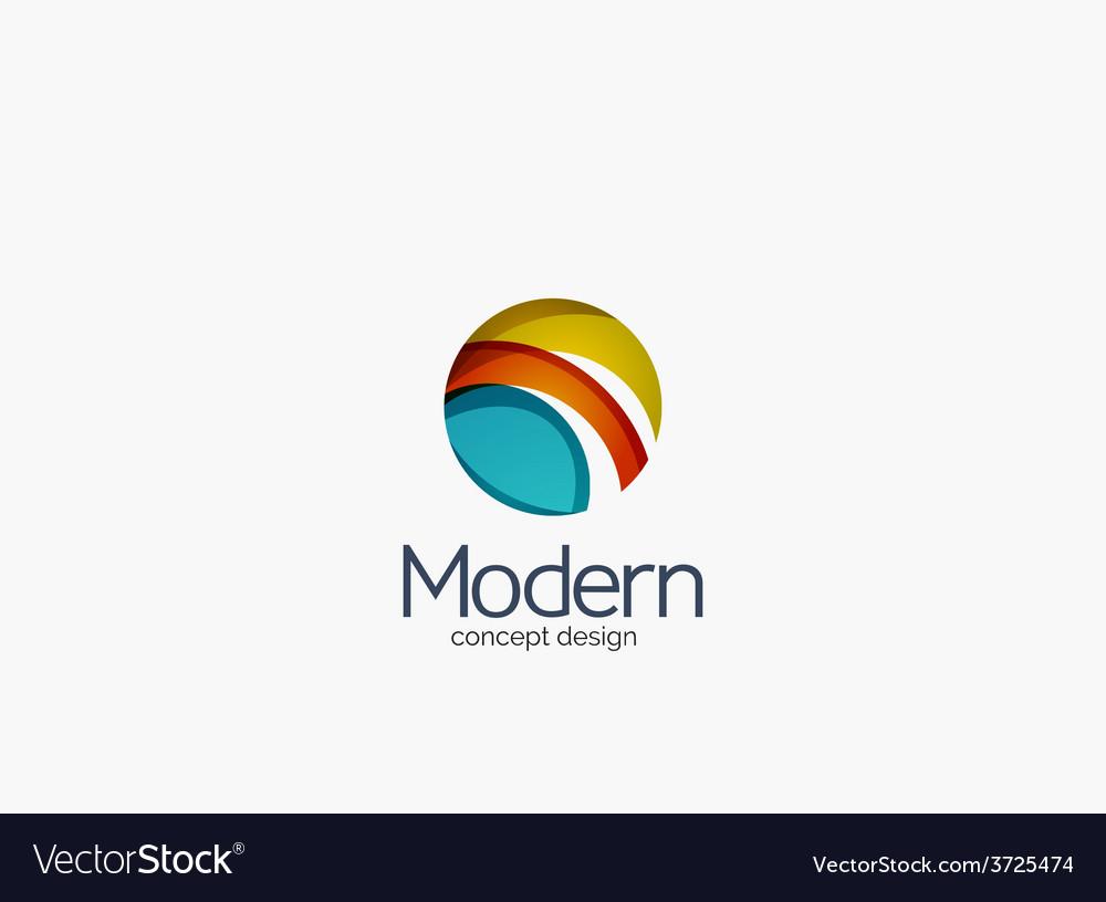 Modern cirlce company logo clean glossy design vector | Price: 1 Credit (USD $1)
