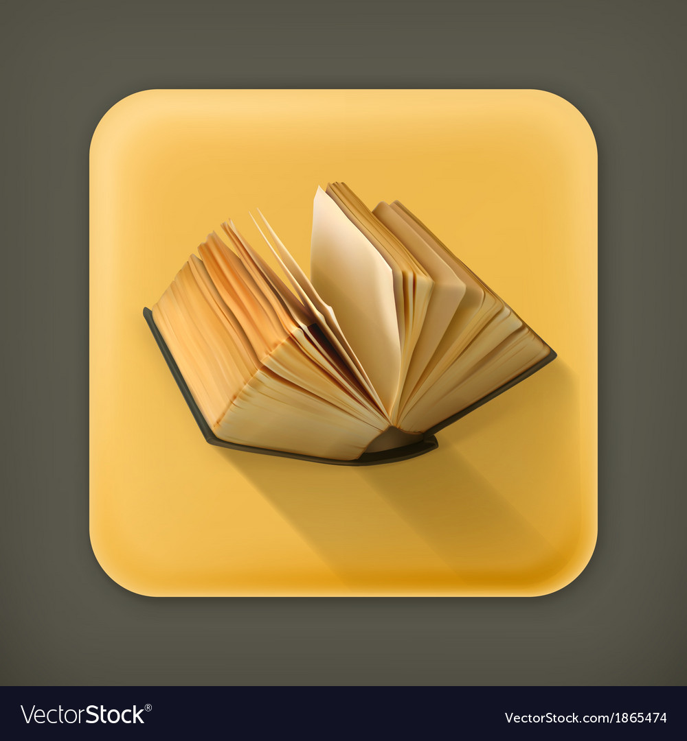Open book flat icon vector | Price: 1 Credit (USD $1)