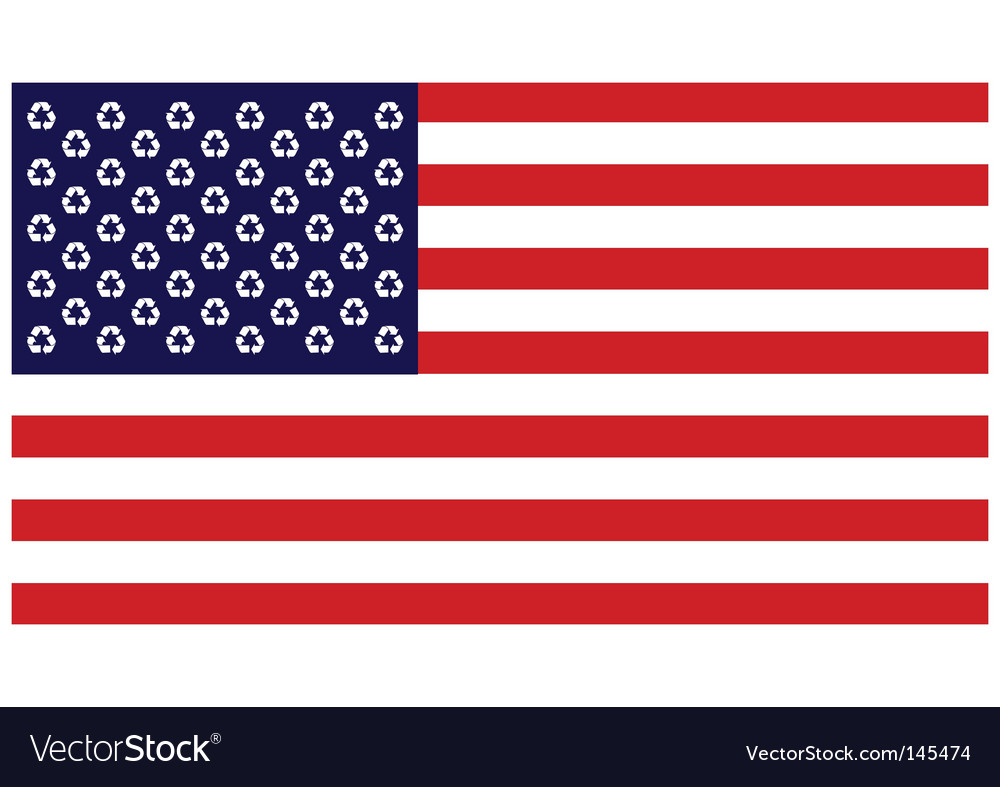 Recycling united states vector | Price: 1 Credit (USD $1)