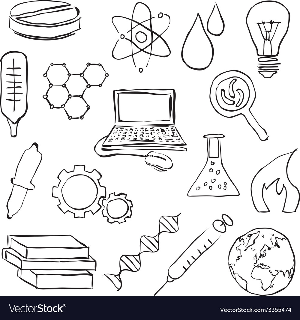 Sketch science images vector | Price: 1 Credit (USD $1)