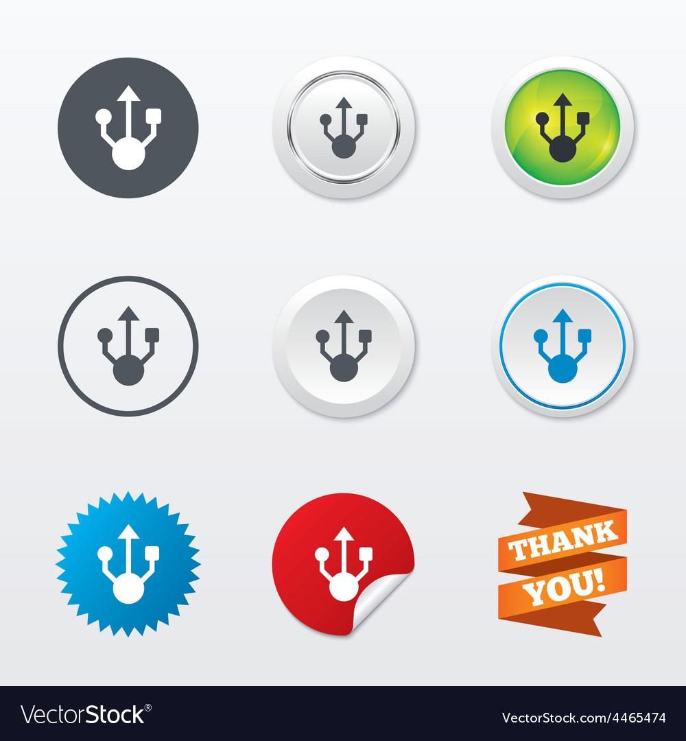 Usb sign icon usb flash drive symbol vector | Price: 1 Credit (USD $1)