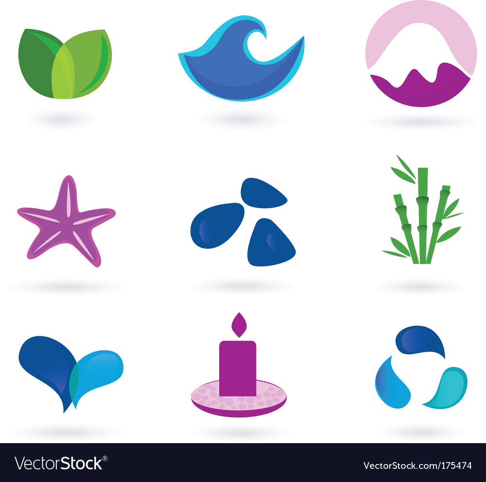 Wellness relaxation and medical icons vector | Price: 1 Credit (USD $1)