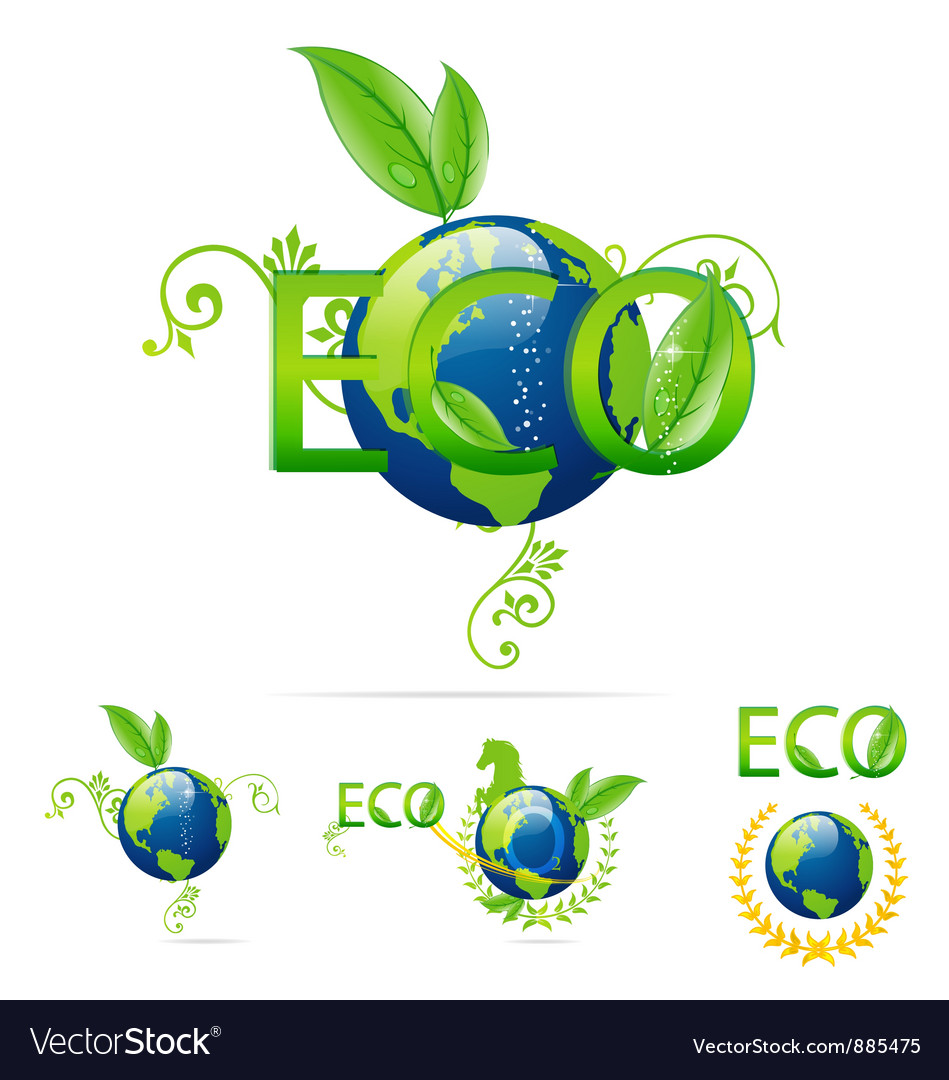 Eco earth symbols vector | Price: 3 Credit (USD $3)