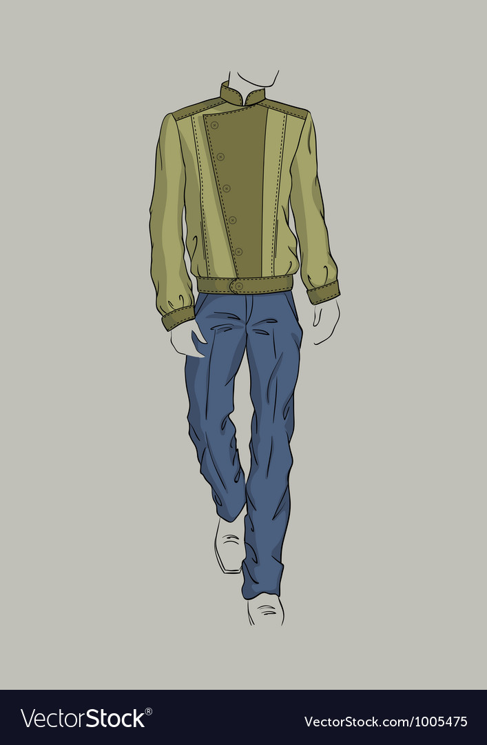 Jacket and trousers for men vector   Price: 3 Credit (USD $3)