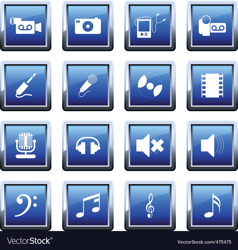 Musical icons set vector   Price: 1 Credit (USD $1)