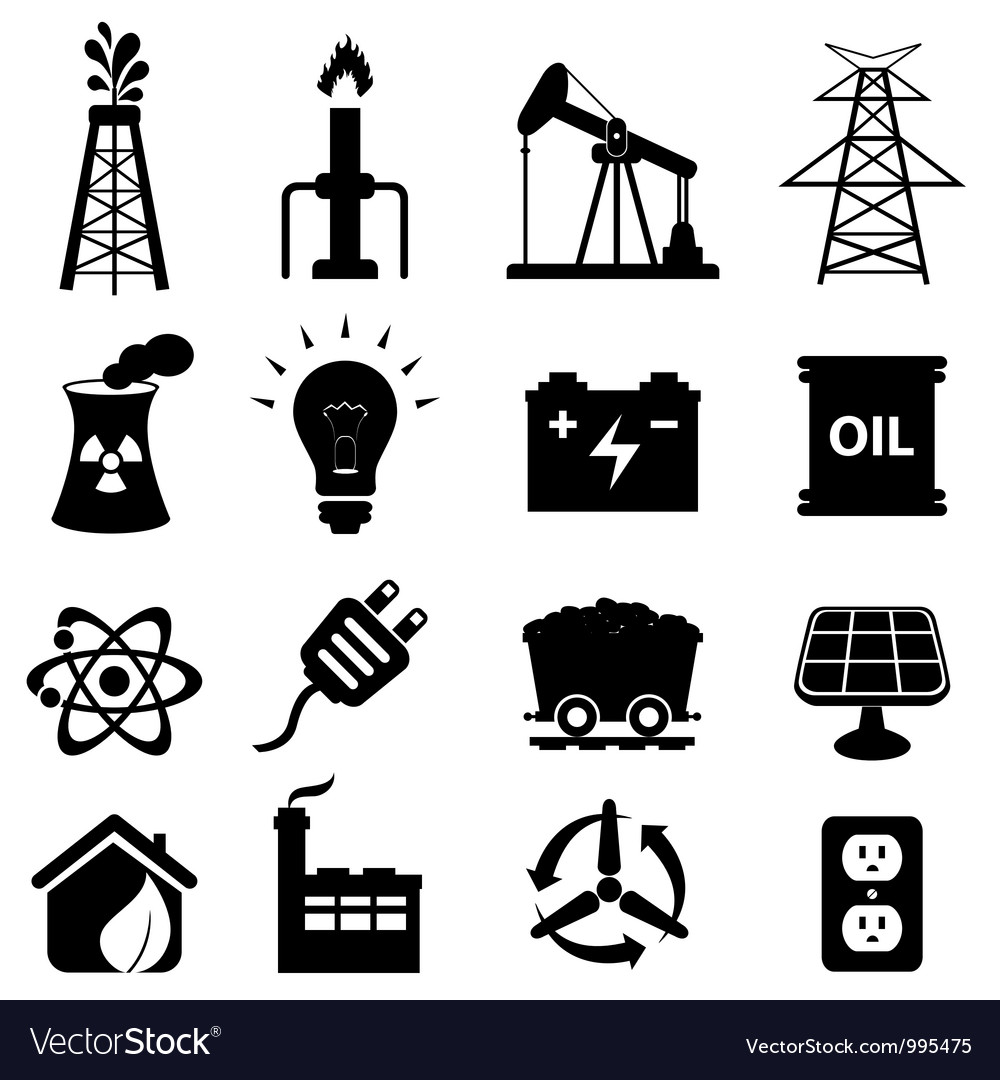 Oil and electricity vector