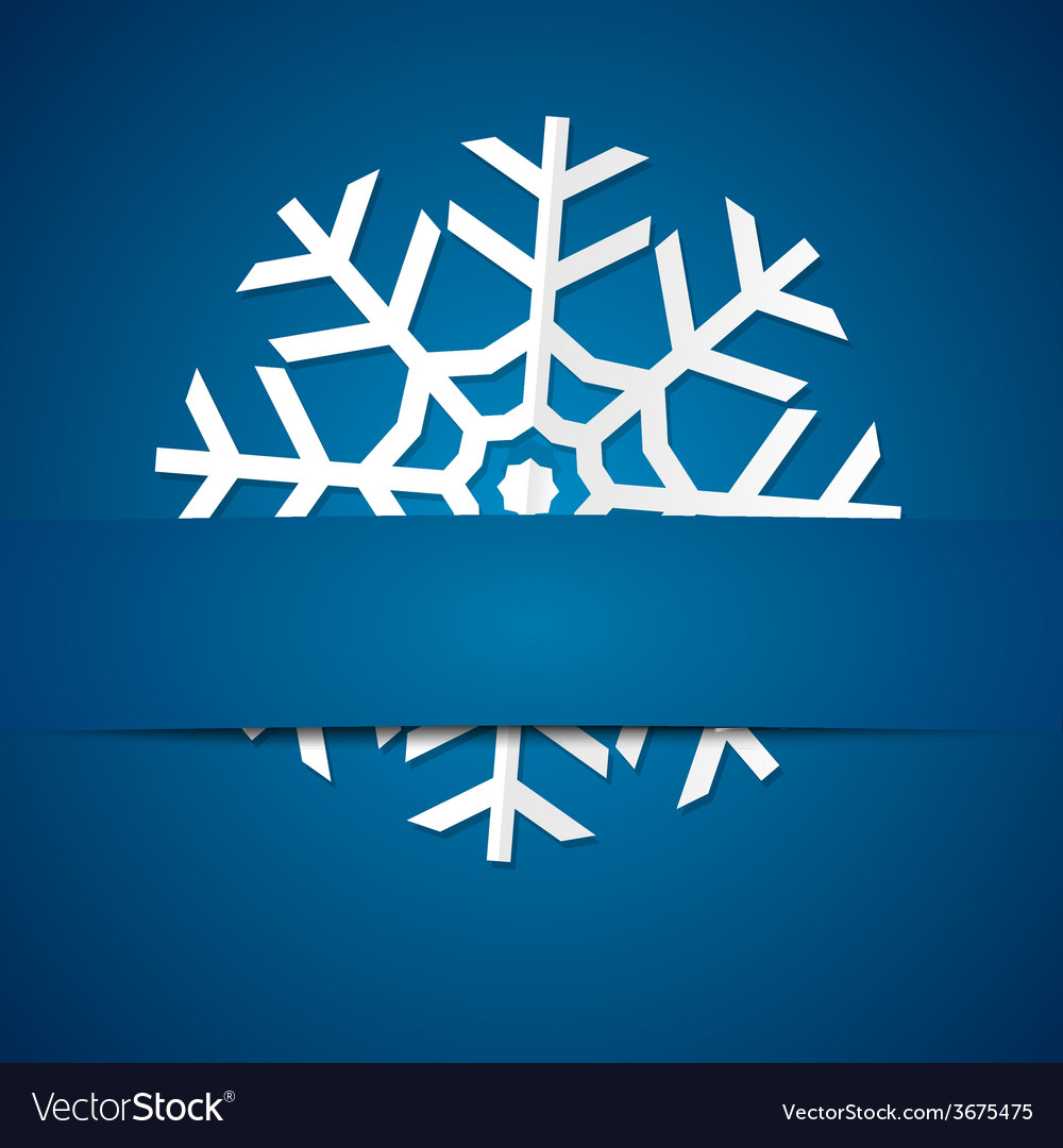 Paper snowflake on colored background vector   Price: 1 Credit (USD $1)