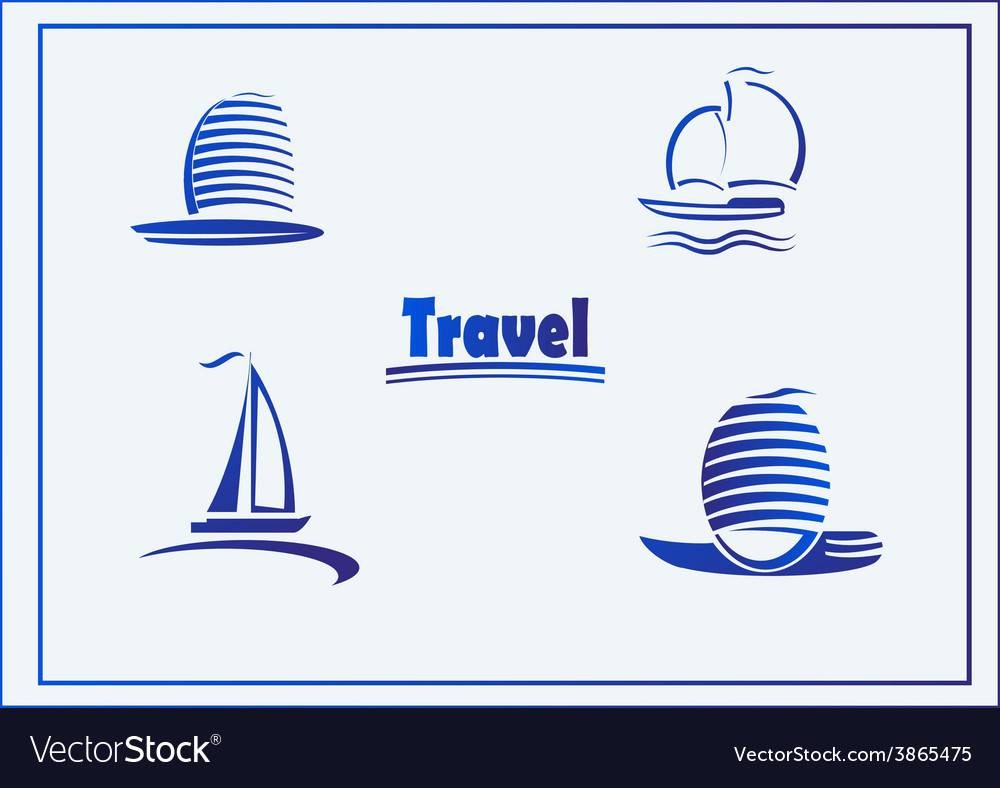 Set of symbols yachts ships vector | Price: 1 Credit (USD $1)