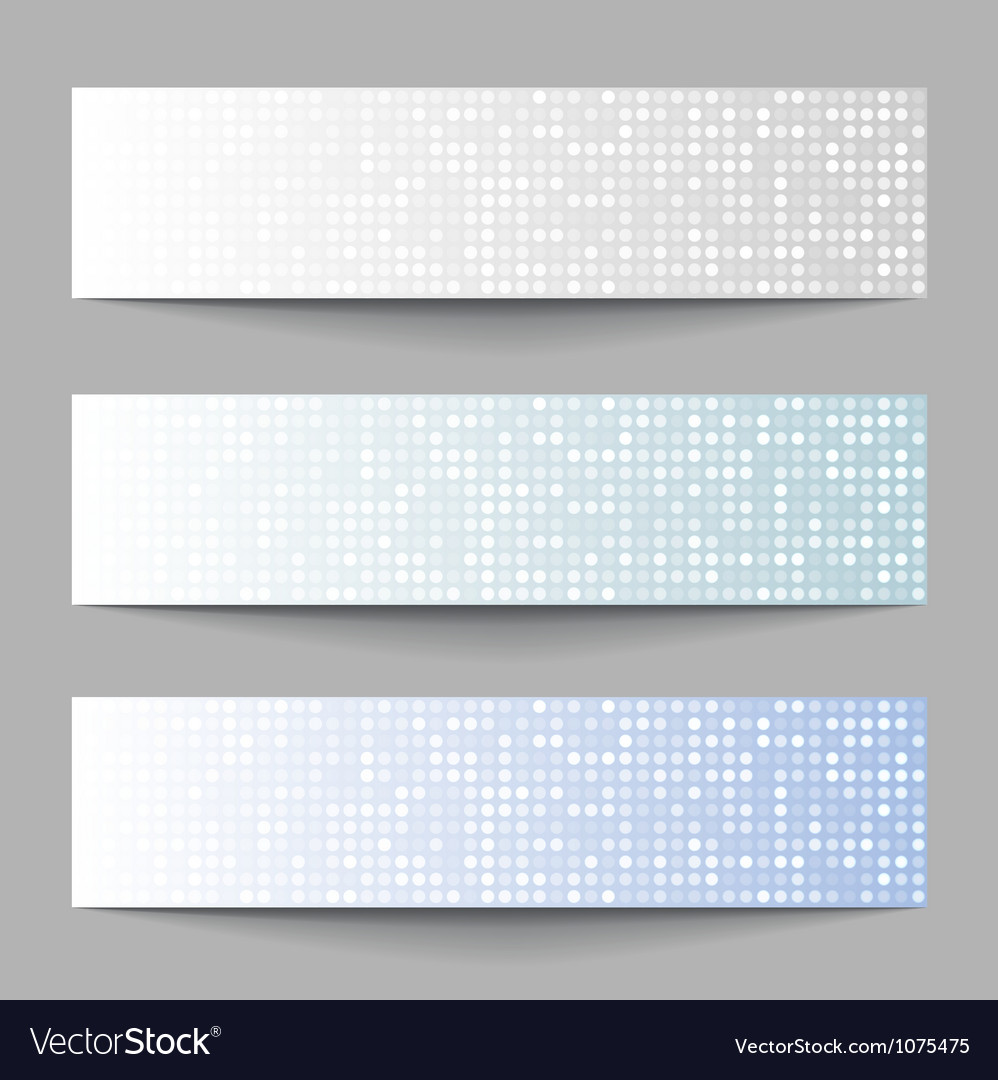 Set of technology pixel banners vector | Price: 1 Credit (USD $1)