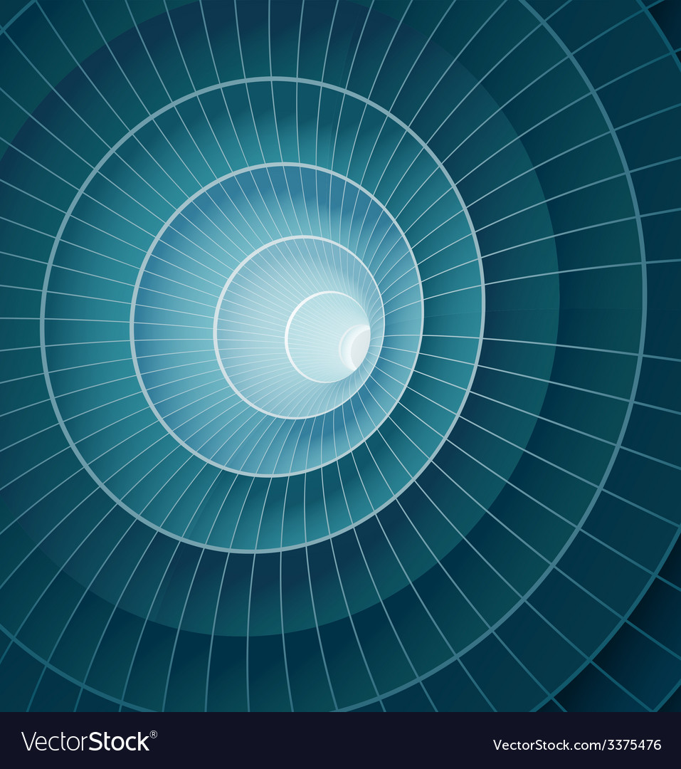 Abstract 3d blue spiral tunnel vector | Price: 1 Credit (USD $1)