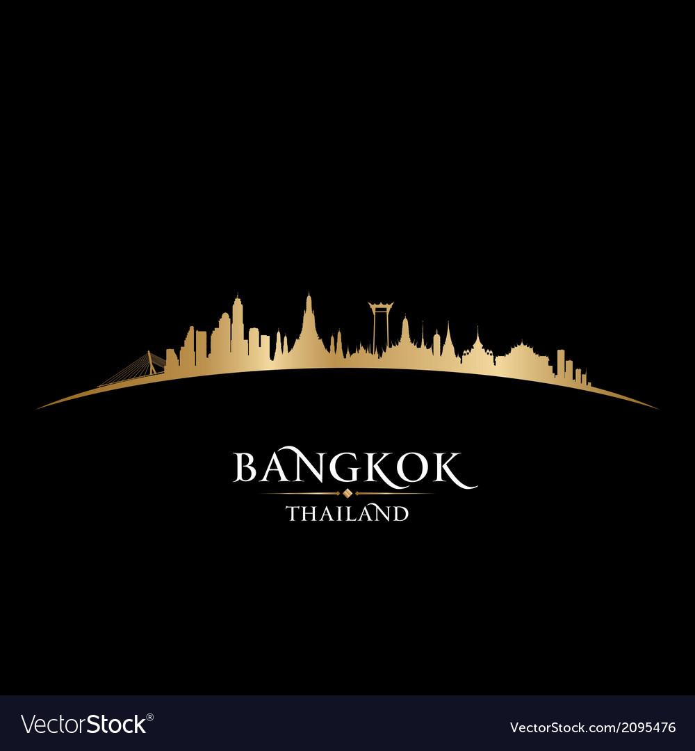 Bangkok thailand skyline detailed silhouette vector | Price: 1 Credit (USD $1)