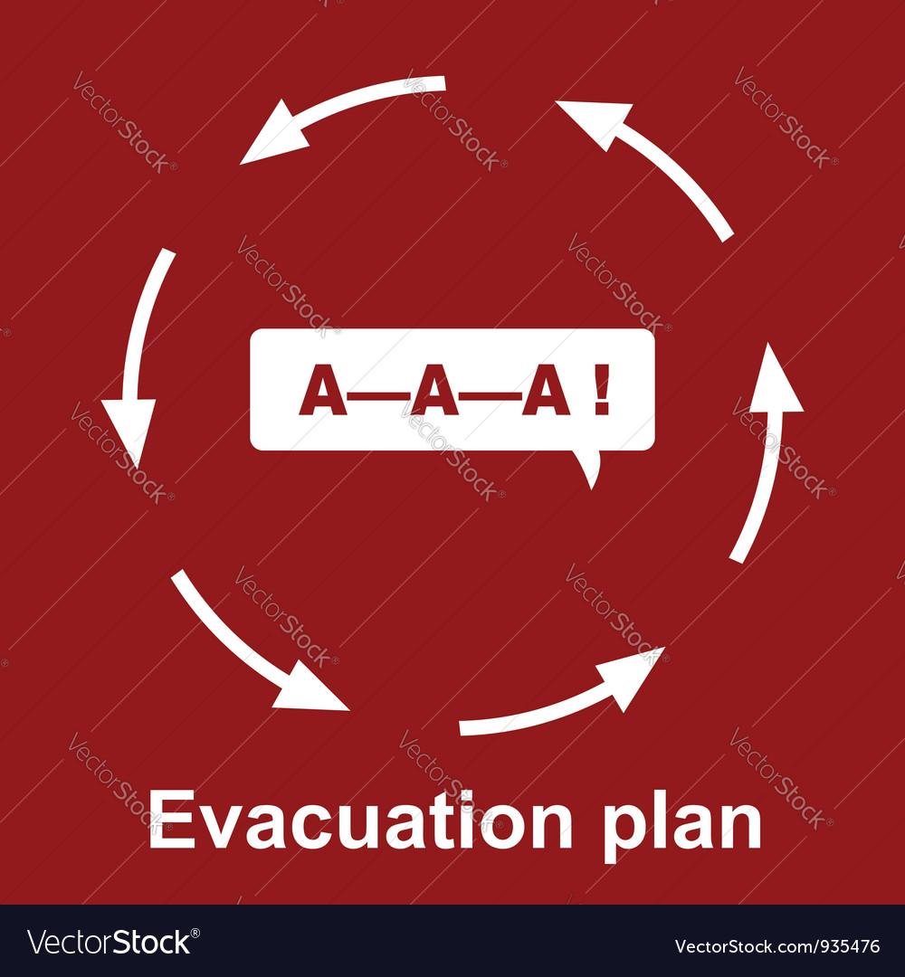 Emergency evacuation plan vector