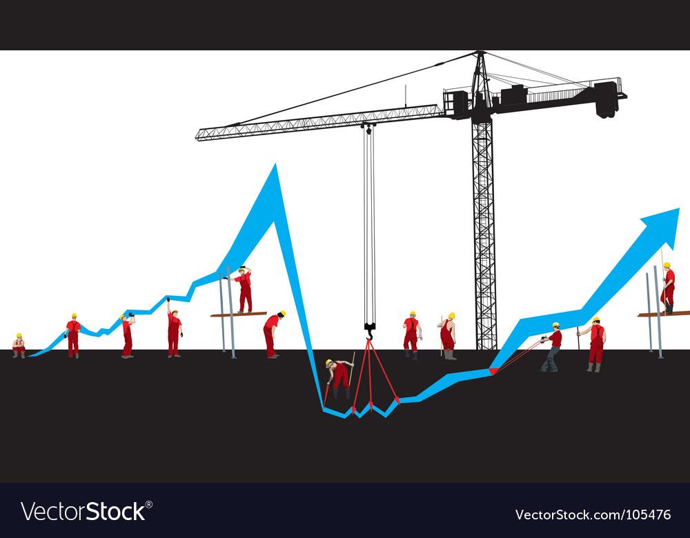 Financial crisis graph vector | Price: 1 Credit (USD $1)