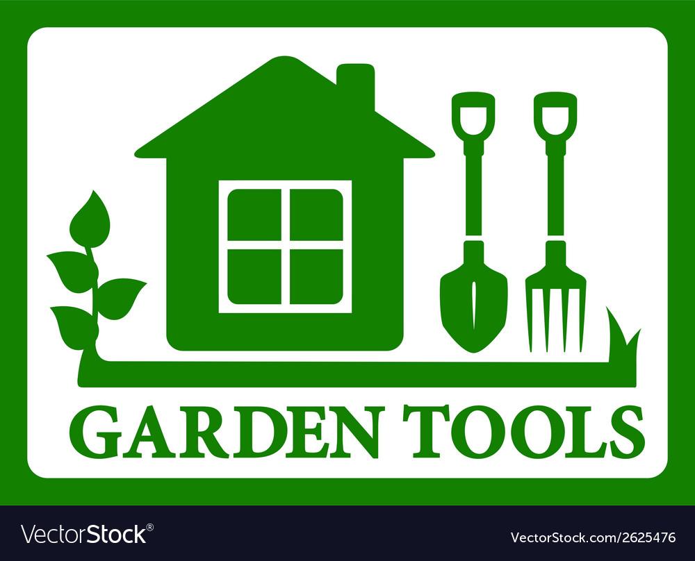 Garden symbol icon vector | Price: 1 Credit (USD $1)