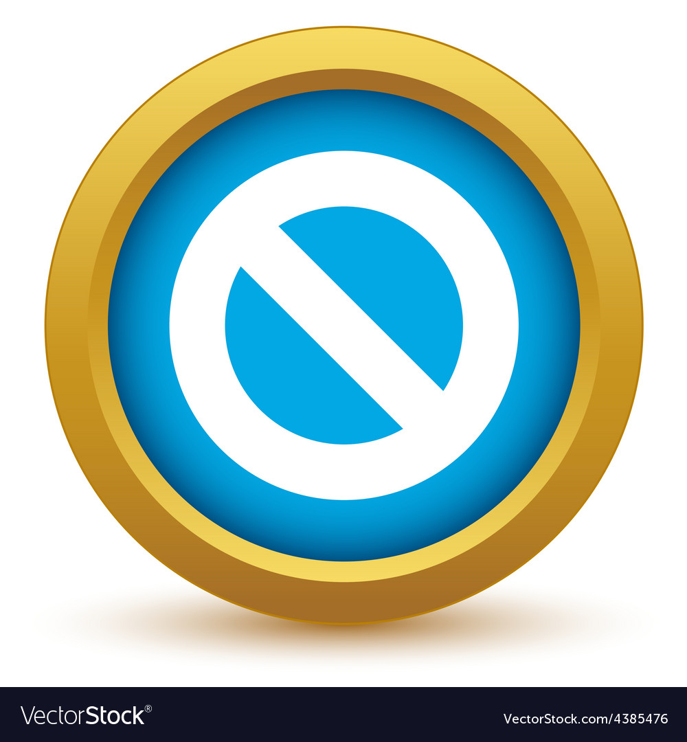 Gold sign ban icon vector | Price: 1 Credit (USD $1)