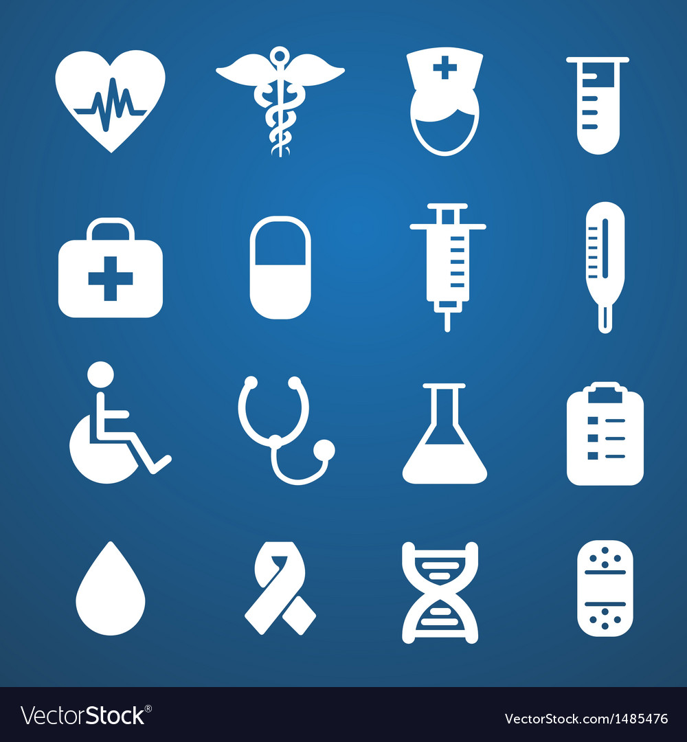 Medical icons white vector | Price: 3 Credit (USD $3)