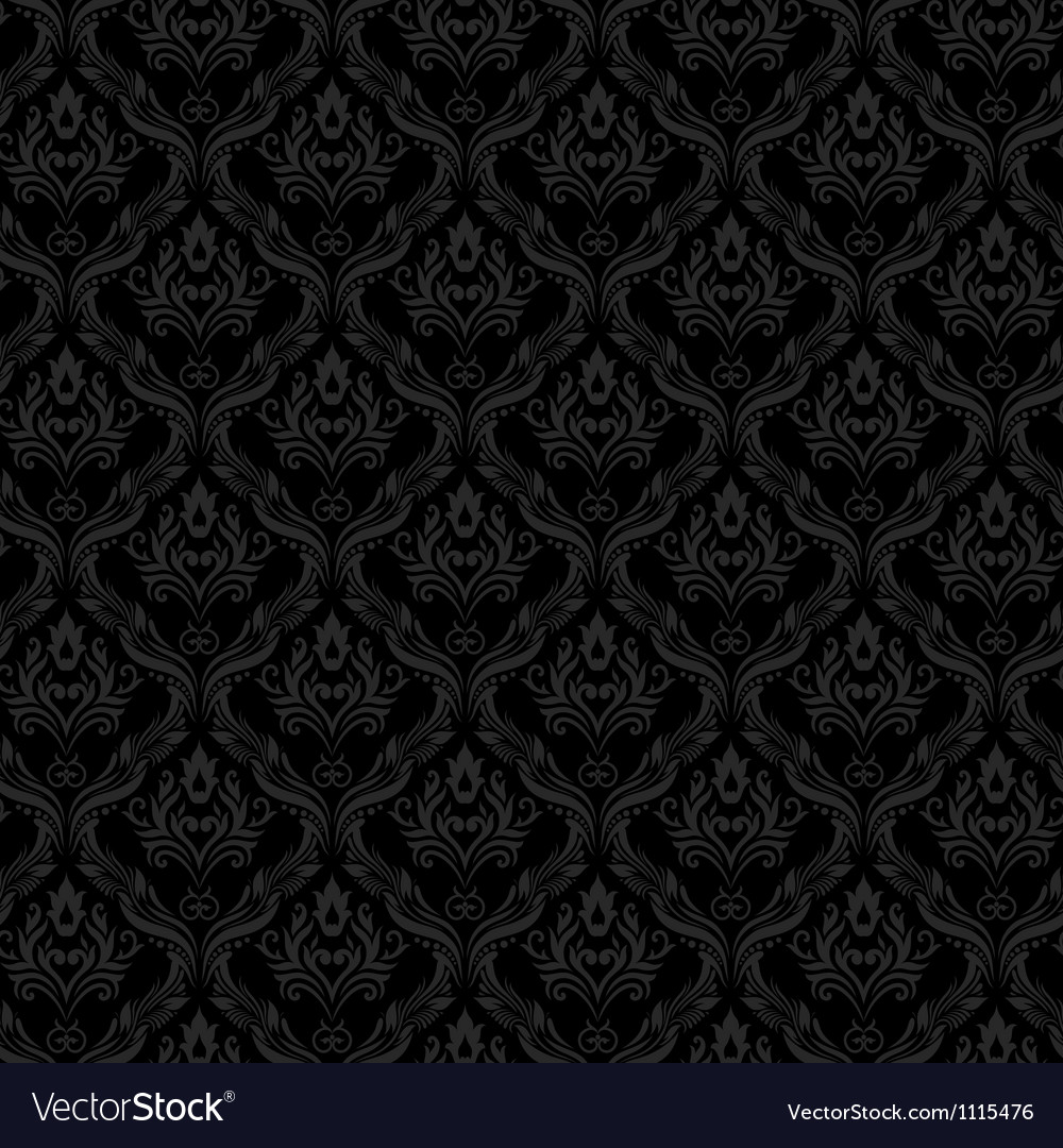 Seamless damask wallpaper 3 gray color vector | Price: 1 Credit (USD $1)