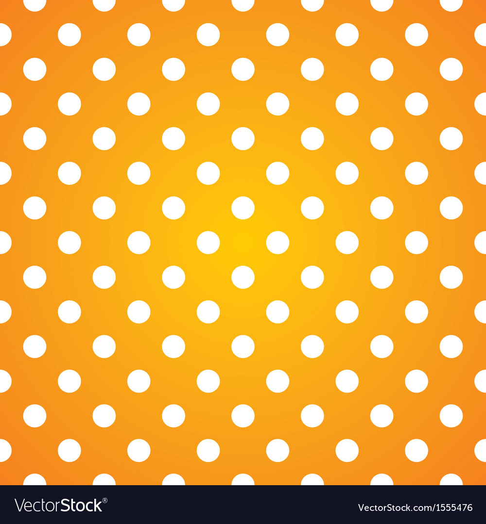 Seamless pattern white polka dots on yellow vector | Price: 1 Credit (USD $1)