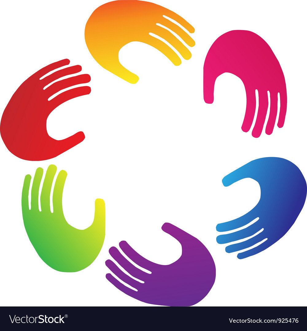 Teamwork hands logo vector | Price: 1 Credit (USD $1)