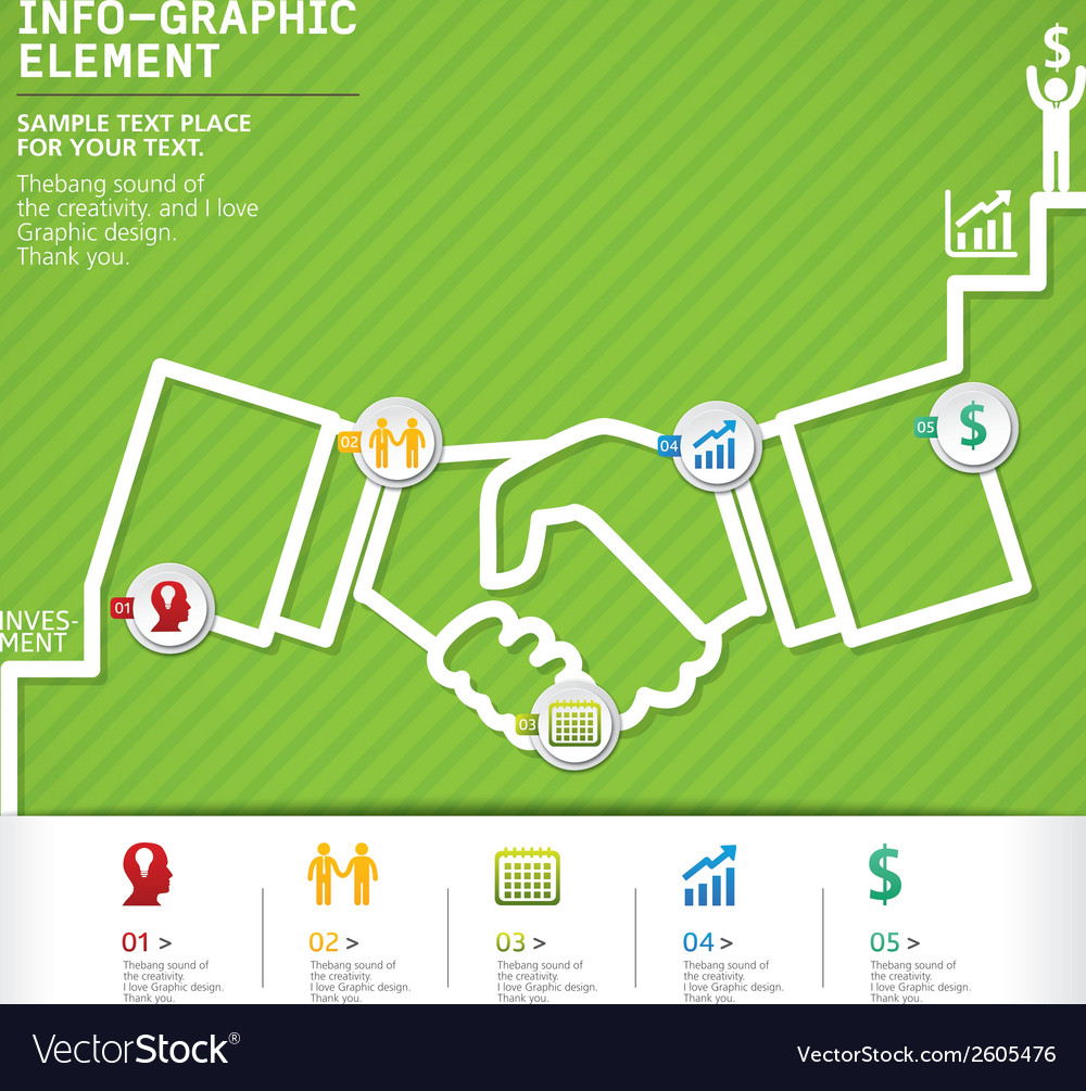 Template modern info-graphic design vector | Price: 1 Credit (USD $1)