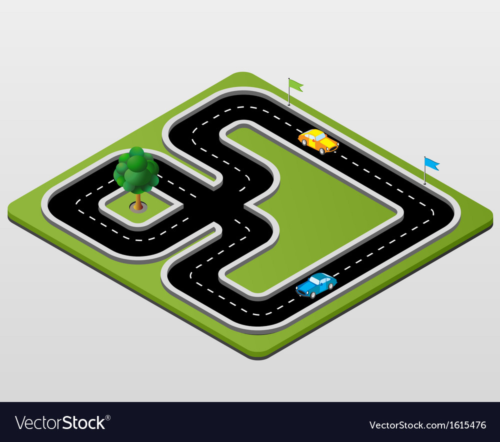 Track racing vector | Price: 1 Credit (USD $1)