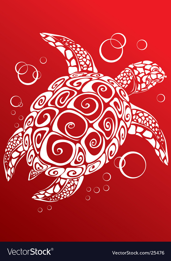 Turtle a print vector | Price: 1 Credit (USD $1)