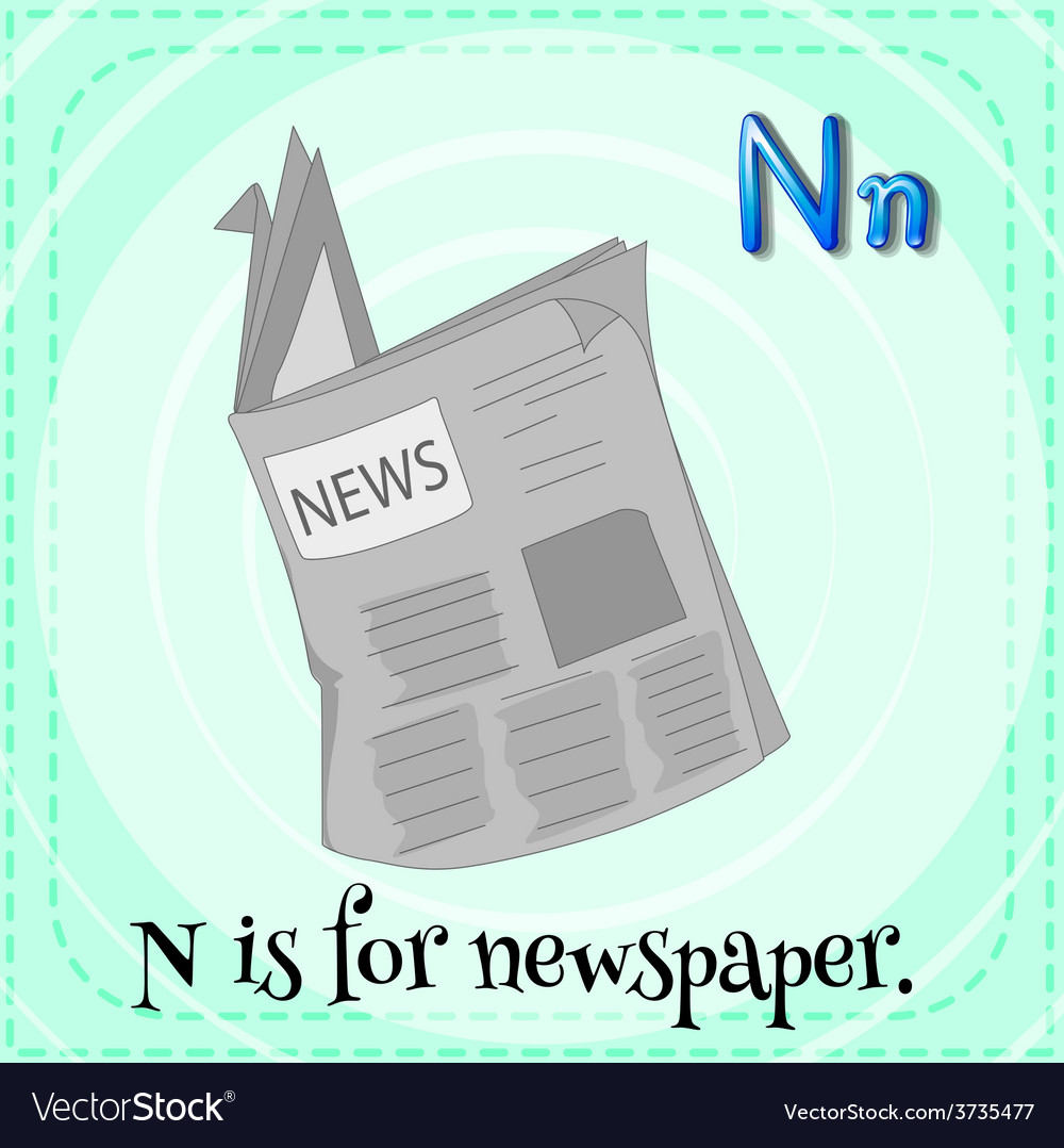 A letter n for newspaper vector | Price: 1 Credit (USD $1)