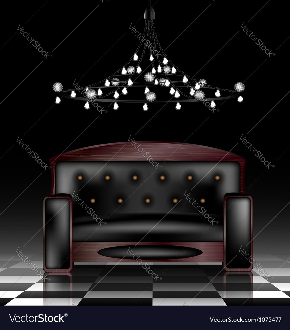 Black sofa vector | Price: 1 Credit (USD $1)
