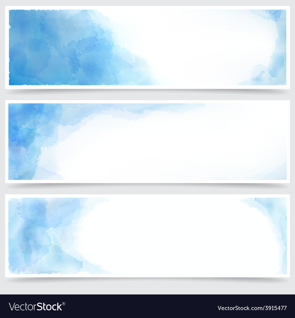 Blue watercolor abstract banners vector | Price: 1 Credit (USD $1)