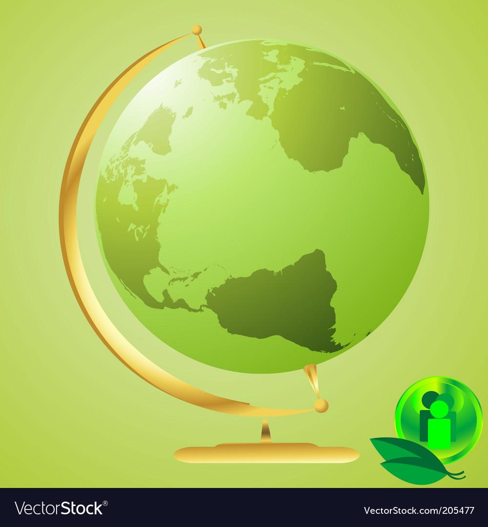 Eco world vector | Price: 1 Credit (USD $1)