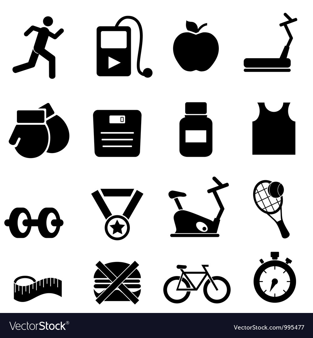 Gym training icons vector | Price: 1 Credit (USD $1)