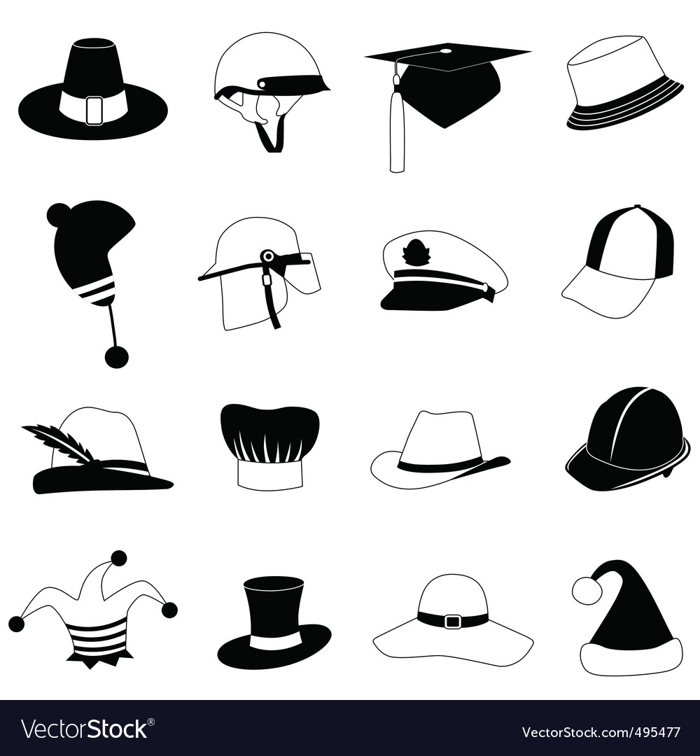 Hat set vector | Price: 1 Credit (USD $1)