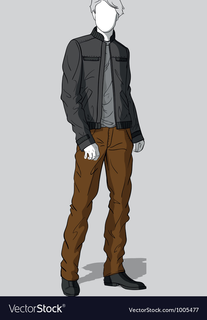 Jacket and pants for men vector | Price: 3 Credit (USD $3)