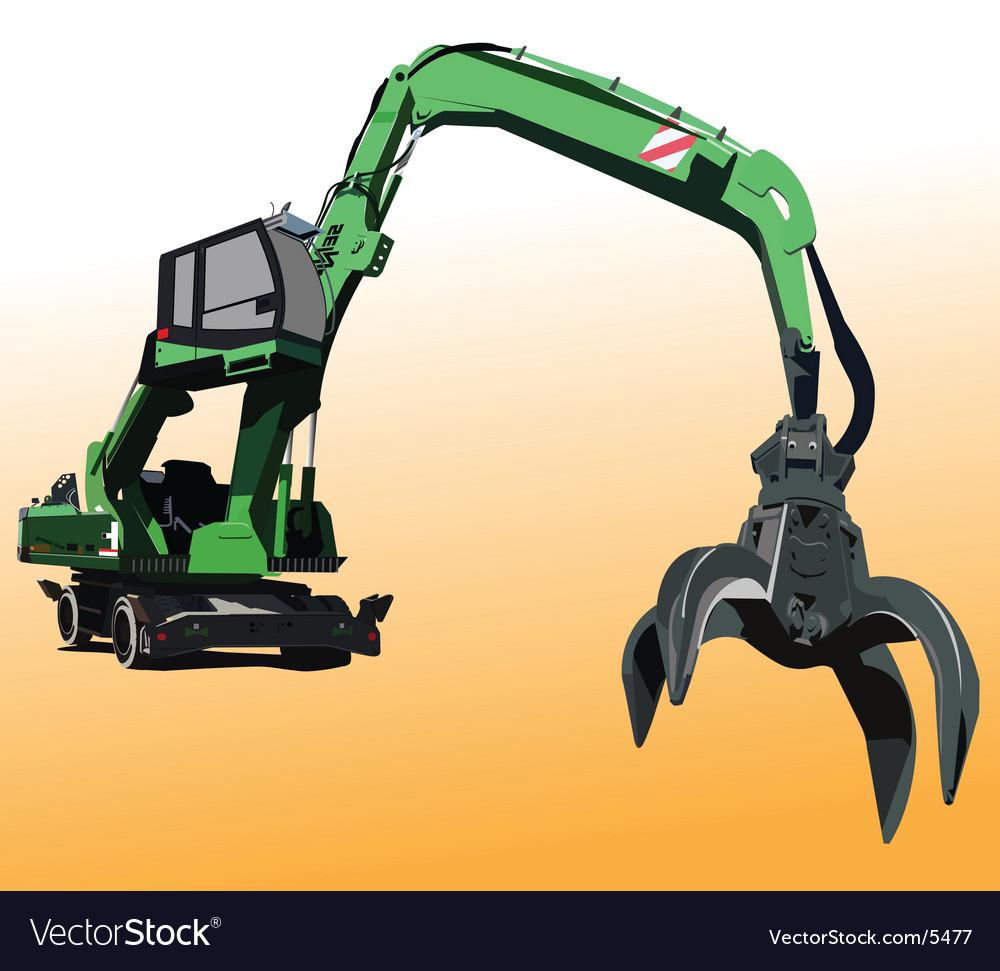 Metal crane vector | Price: 3 Credit (USD $3)